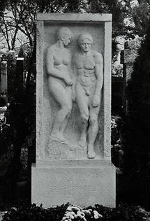Grabstein für Egon und Edith Schiele