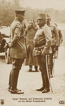 Kaiser Wilhelm II. mit Erzherzog Friedrich