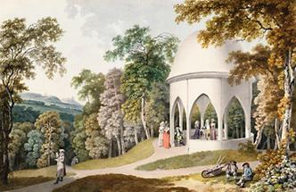 Gotischer Tempel im  Garten des Fürsten Demeter Gallizin