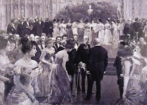 Kaiser Franz Joseph mit Bürgermeister Karl Lueger