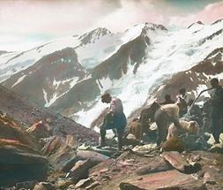 Bergsteiger auf dem Weg um Großglockner und zum Großen Wiesbachhorn