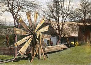 Schrot-Windmühle