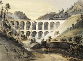 Semmeringbahn: Viadukt über die Kalte Rinne