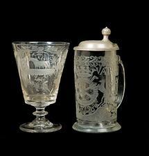 Ratmeisterkrug und Glas