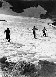 Skifahrer am Stilfserjoch