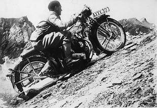 Motorrad am Grossglockner