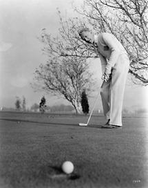 Otto Kruger - Golfer in Aktion