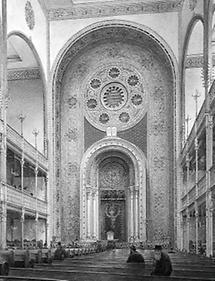 Blick in den Innenraum des Großen Tempels in Wien