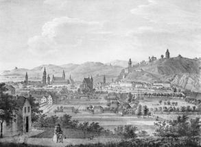 Steyermark. Die Stadt Graz von der Morgenseite