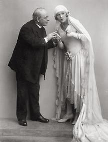 Hugo Thimig und Nora Gregor in Dreimal Hochzeit