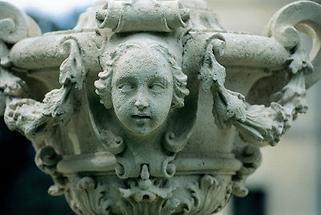 Skulptur im Schlosspark von Greillenstein