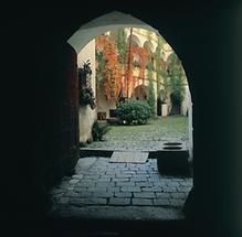 Arkadenhof in Burg Clam bei Grein