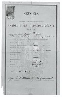 Zeugnis von Egon Schiele