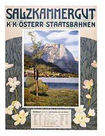 Plakat: Salzkammergut. k. k. Österr. Staatsbahnen