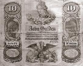 Zehn Gulden Banknote