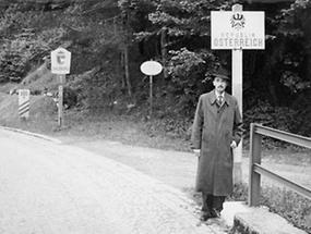 Otto Habsburg-Lothringen an der Grenze zu Österreich