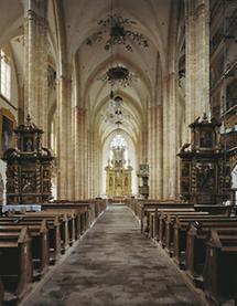 Einblick in die Kirche von Stift Neuberg
