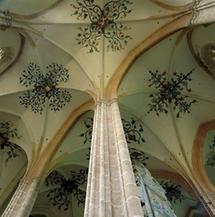 Gewölbe der Hallenkirche von Neuberg