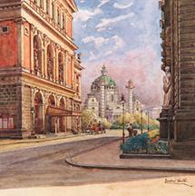 Das Musikvereinsgebäude um 1900