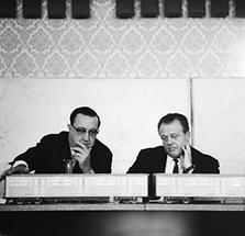 Felix Slavik und Kurt Heller