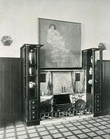 Halle einer Villa von Josef Hoffmann