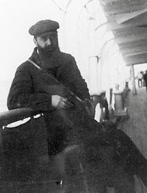 Theodor Herzl am Deck eines russischen Schiffes (1)