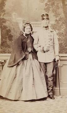 Portrait Heinrich Freiherr von Hess und Frau