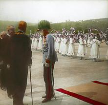 Kaiser Franz Joseph I und Bürgermeister Karl Lueger