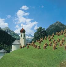 Pfarrkirche von Hinterhornbach im Außerfern, Tirol