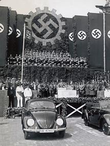 Grundsteinlegung zum Volkswagen-Werk Wolfsburg
