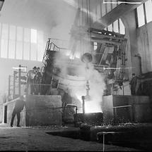 Arbeiter in einem Stahlwerk (2)