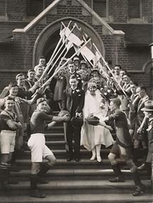 Hochzeit eines Fussballers