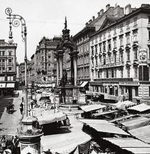Der Hohe Markt mit dem Vermählungsbrunnen in Wien