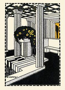Wiener Werkstätte Postkarte Kunsttschau 1908 (2)