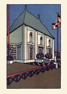 Wiener Werkstätte Postkarte Kunsttschau 1908 (1)