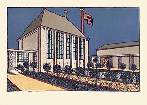 Wiener Werkstätte Postkarte Kunstschau 1908 (1)