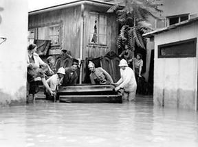 Überschwemmung in Wien-Inzersdorf