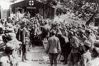 Kaiser Karl I an der Isonzofront