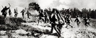 Soldaten in der 11. Isonzoschlacht