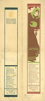 Kalenderblatt Januar für das Jahr 1900