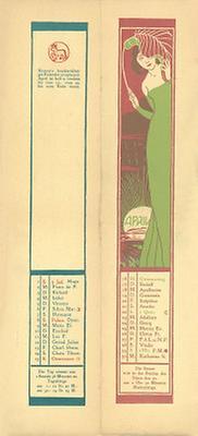 Kalenderblatt April für das Jahr 1900
