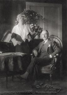 Maria Jeritza und Giacomo Puccini