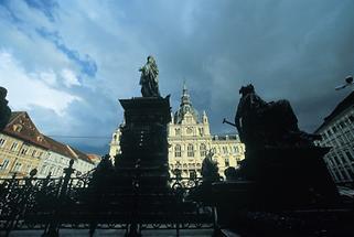 Der Hauptplatz von Graz