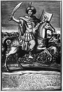 Portrait Johann III. Sobieski auf einem Pferd