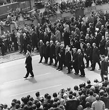 Trauerzug zu Ehren von Bundespräsident Franz Jonas (1)