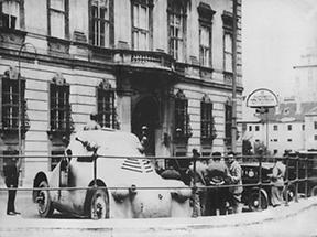 Juliputsch 1934: Das Bundeskanzleramt in Wien