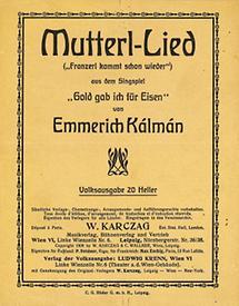 Liedflugblatt zur Operette