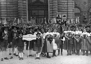 Feier anlässlich des 10. Jahrestages der Kärntner Volksabstimmung