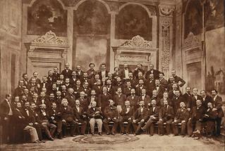 Erstes Orchesterphoto der Philharmoniker