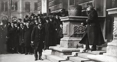 Kaiser Franz Joseph I. vor dem Künstlerhaus